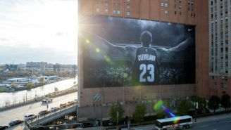 The Massive LeBron James Nike Banner In Cleveland Will Be Taken Down