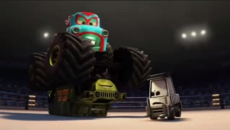 The Wrestling Episode: Monster Truck Wrestling In Pixar's Insane 'Cars' Universe