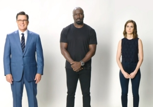 Stephen Colbert Enlists Alison Brie And Mike Colter In A Fake Sex PSA For Netflix Subscribers