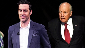 Sacha Baron Cohen Gets A Signed 'Waterboarding Kit' From Dick Cheney In His Upcoming Showtime Series