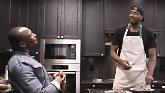 Serge Ibaka Cooked Cow Tongue For Bismack Biyombo In His New YouTube Cooking Show