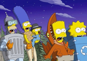 'The Simpsons' Look Like They'll Be Traveling To 'Jurassic World' This Halloween
