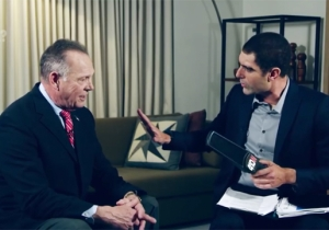 Sacha Baron Cohen Trolls Roy Moore With A 'Pedophile Detector' Device On 'Who Is America?'