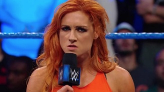 The Locker Room Cleared Out For A Brawl Between Becky Lynch And Charlotte Flair
