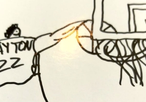 Deandre Ayton Drew Himself Dunking On Joel Embiid On A Trading Card