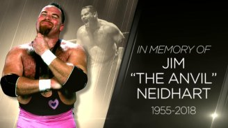 Watch WWE's Tribute To Jim 'The Anvil' Neidhart From Raw