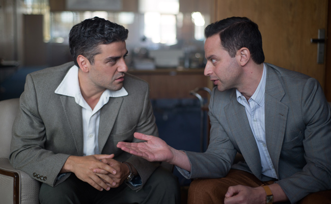 Nick Kroll and Oscar Isaac in Operation Finale