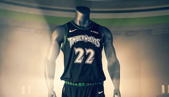 huge selection of bd498 75c73 The Timberwolves Will Wear Classic Black Throwback Uniforms ...