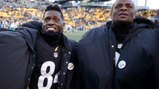 Antonio Brown Offered His Support For Steelers Teammate Le'Veon Bell On Twitter