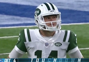 Sam Darnold Threw A Pick-Six On The First Pass Of His NFL Career