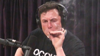 Elon Musk Smoked A Blunt And Drank Whiskey With Joe Rogan During A Live Podcast Interview