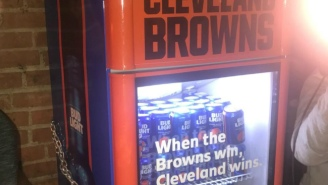 The Victory Fridges Were Opened After The Browns Finally Won A Game
