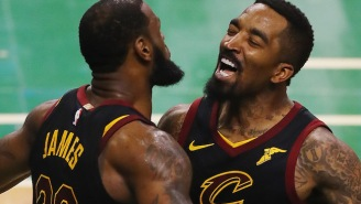 LeBron James Congratulated The Browns On Their First Win Since 2016, And J.R. Smith Celebrated Shirtless