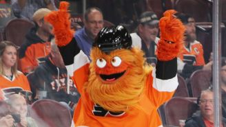 Everybody Loves Gritty, A Lovely Flyers Mascot With Giant Googly Eyes