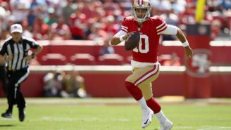 Jimmy Garoppolo Left With An Apparent Knee Injury Late Against The Chiefs