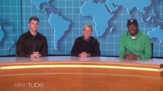 Michael Che And Colin Jost Swung By 'Ellen' To Do A Pre-Emmys 'Weekday Update'