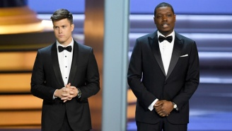 Michael Che And Colin Jost Cracked The Best 'Atlanta' Joke During Their Emmys Monologue