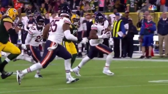 Khalil Mack Got A Pick Six In His First Game With The Chicago Bears