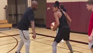 Kobe Bryant Is Working With Candace Parker On Her Post Moves