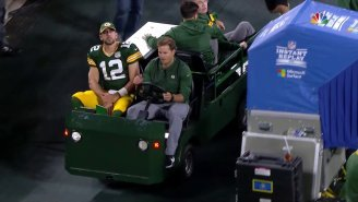Aaron Rodgers Returned After Being Carted Off The Field In The First Half (UPDATED)