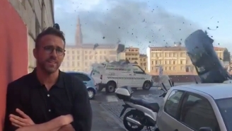 Ryan Reynolds Gave A Hilariously Explosive Interview From The Set Of His Michael Bay Movie