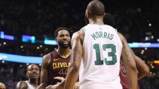 Tristan Thompson Thinks The East Still Goes Through Cleveland, Which Marcus Morris Finds Hilarious