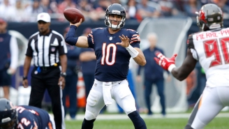 Bears QB Mitchell Trubisky Carved Up The Bucs With Five First Half Touchdowns