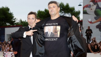 A Filmmaker Wore A 'Weinstein Is Innocent' Tee-Shirt At The Venice Film Festival