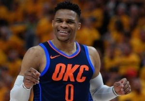 Russell Westbrook Mocked Lance Stephenson's Air Guitar Celebration After A Paul George And-1