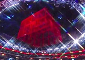 WWE Painted The Cell Red For Hell In A Cell