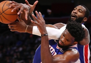 Andre Drummond And Joel Embiid Kept Beefing After The Pistons Beat The Sixers