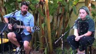 Dave Grohl And His Daughter Play A Backyard Concert To Benefit Homeless People