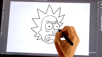 This Video Will Teach You How To Draw 'Rick And Morty' Like The Pros