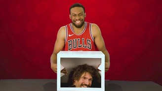 "Jabari Parker Gets Spooked By Robin Lopez During A Chicago Bulls Edition Of ""What's In The Box?"""