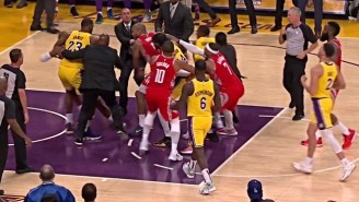 Chris Paul And Rajon Rondo Threw Punches In A Gigantic Brawl During Lakers-Rockets