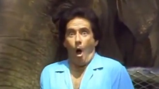 Let's All Take A Deep Breath And Watch Larry From 'Three's Company' React To An Elephant