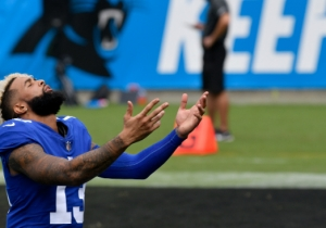 Odell Beckham Jr. Made A Ridiculous One-Handed Catch While Being Dragged To The Ground