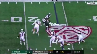 A Wild Formation By Washington State And Some Terrible Oregon Tackling Resulted In A Touchdown