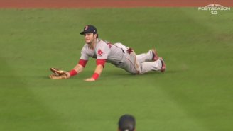 Andrew Benintendi's Diving Catch With The Bases Loaded Saved Game 4 For The Red Sox