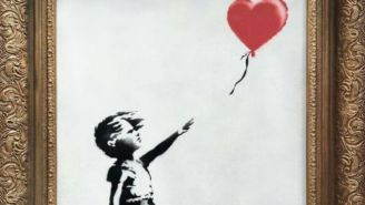 A Banksy Painting 'Self-Destructed' After Selling At Auction For $1.4 Million