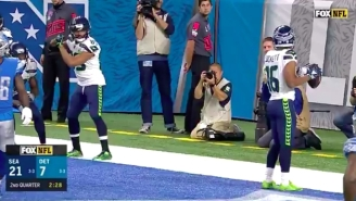 The Seahawks Celebrated A Touchdown By Playing Out A Baseball Brawl