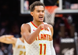 Quavo Gifted Trae Young A Custom 'Ice Trae' Chain To Celebrate His Rookie Season