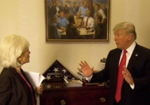 People Are Mocking Trump's Fantasy Republican Painting Seen Hanging In The White House On '60 Minutes'