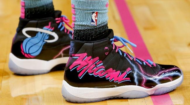 Custom Miami Vice Jordan 11s