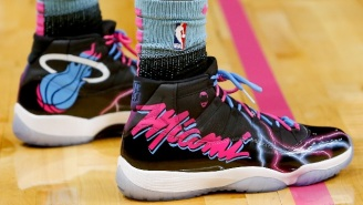 Bam Adebayo Paid Tribute To The Heat's Miami Vice Uniforms With Custom Air Jordan 11s