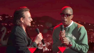 Bono And Pharrell Turn The Bee Gees' 'Stayin' Alive' Into Piano Jazz On 'Jimmy Kimmel'