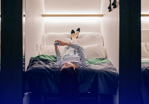A Night In A Japanese Capsule Hotel Is Intriguing & Terrifying At Once