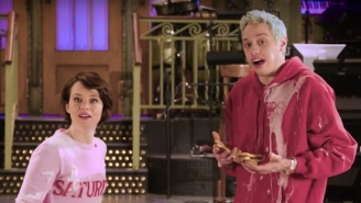 Watch Pete Davidson Start A Food Fight With Claire Foy In The Latest 'SNL' Promo
