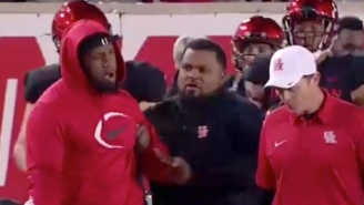 Ed Oliver And Houston Coach Major Applewhite Got Into It Over Oliver Wearing A Jacket On The Sideline