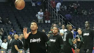 The Clippers And Bucks Wore 'Enough' Shirts After The Thousand Oaks Shooting